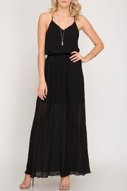 Apricot Lane Black Maxi Skirt - Product Mini Image