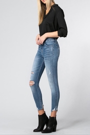 Apricot Lane Blue Lily Hr-Crop - Front full body