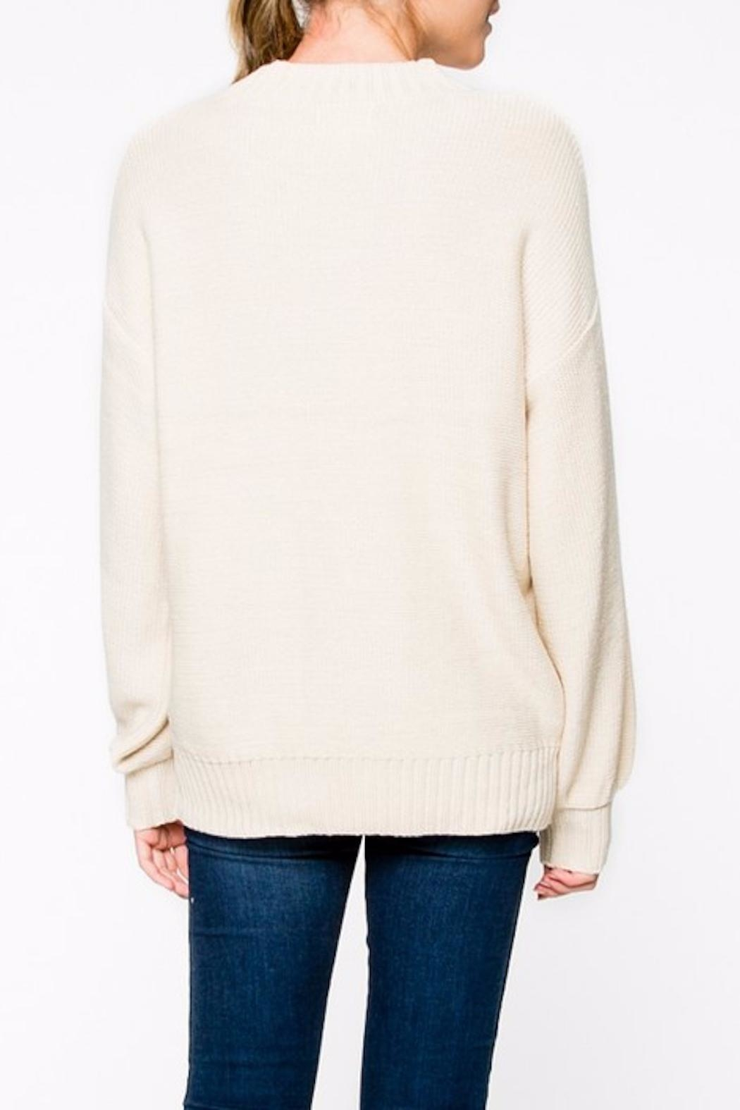 Apricot Lane Braided Front Sweater - Side Cropped Image