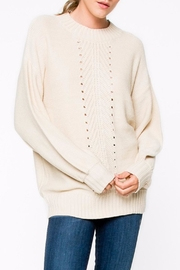 Apricot Lane Braided Front Sweater - Product Mini Image