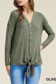 Apricot Lane Buttoned Up Sweater - Product Mini Image