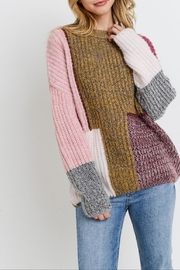 Apricot Lane Colorblock Patched Sweater - Product Mini Image