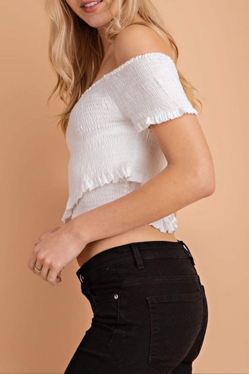 Apricot Lane Crepe Crops - Front Full Image