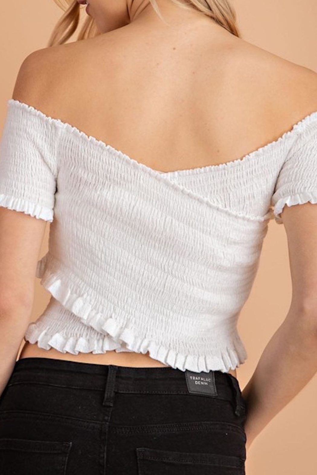 Apricot Lane Crepe Crops - Side Cropped Image