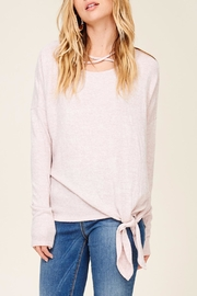 Apricot Lane Cross Over Sweater - Front cropped