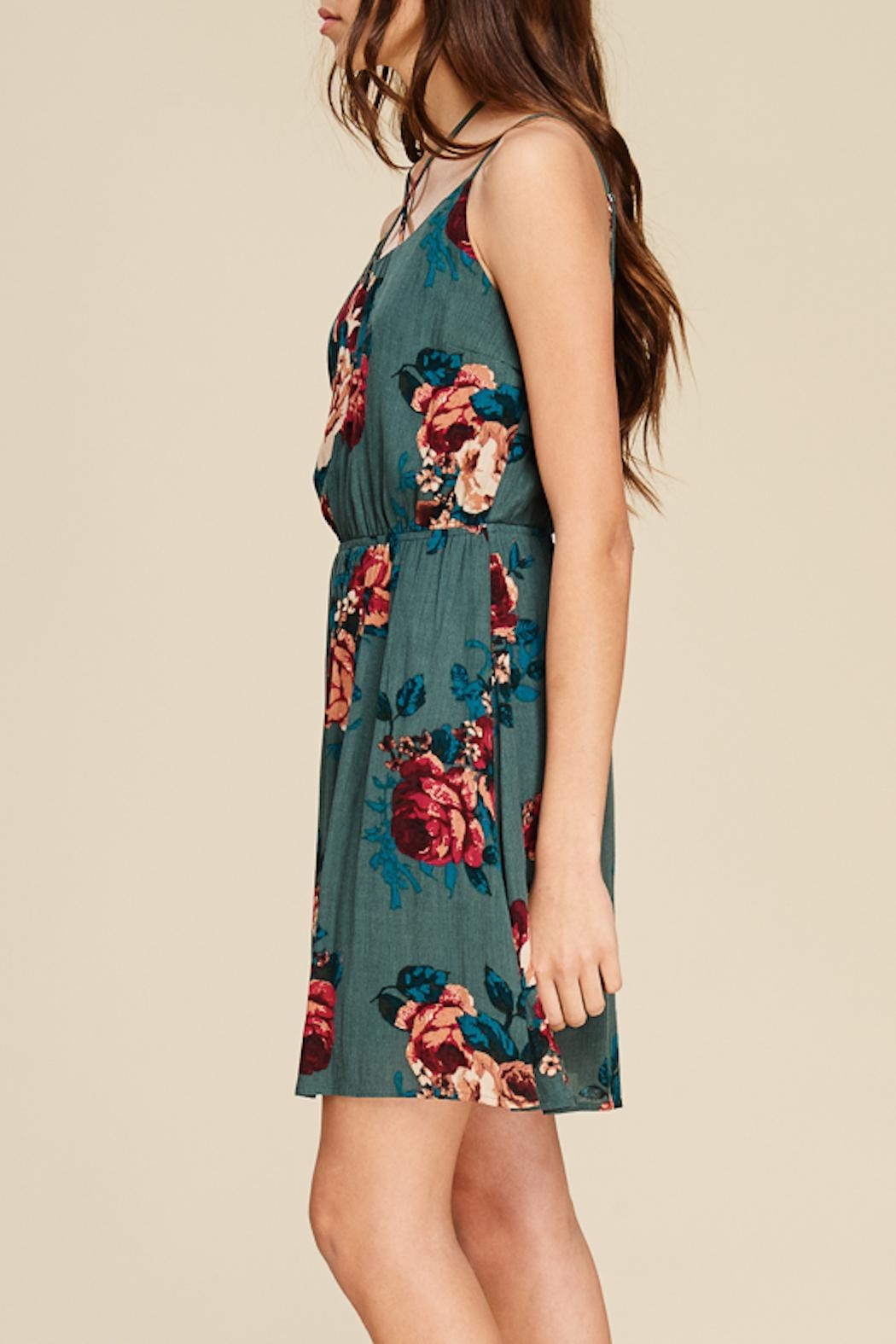 Apricot Lane Crossing Over Dress - Front Full Image