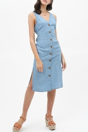 Apricot Lane Denim Button Down Midi - Product Mini Image