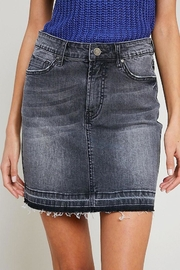 Apricot Lane Denim Skirt - Grey - Product Mini Image