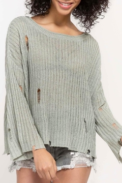 Apricot Lane Distressed Knit Sweater - Product List Image
