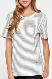 Apricot Lane Distressed Striped Tee - Product Mini Image