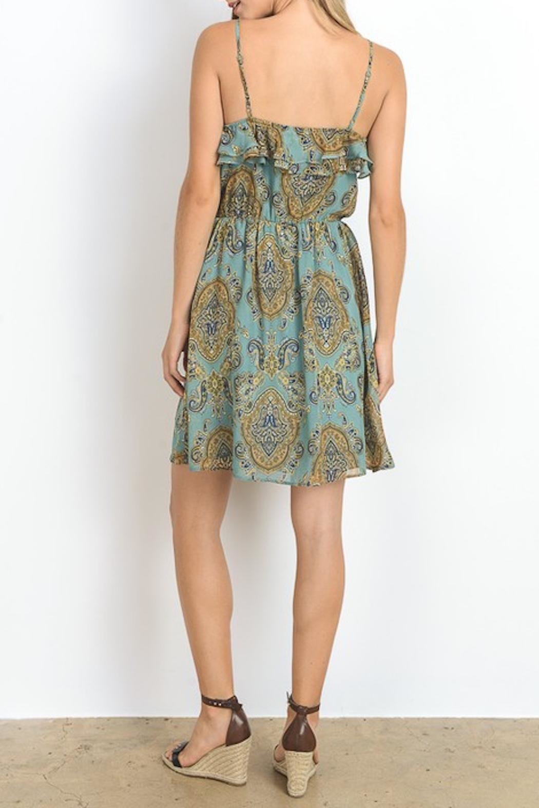 Apricot Lane Double Ruffle Dress - Side Cropped Image