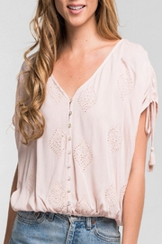 Apricot Lane Embroidered Button Down - Product Mini Image
