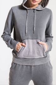 Apricot Lane Faded Wash Hoodie-Stormgrey - Product Mini Image