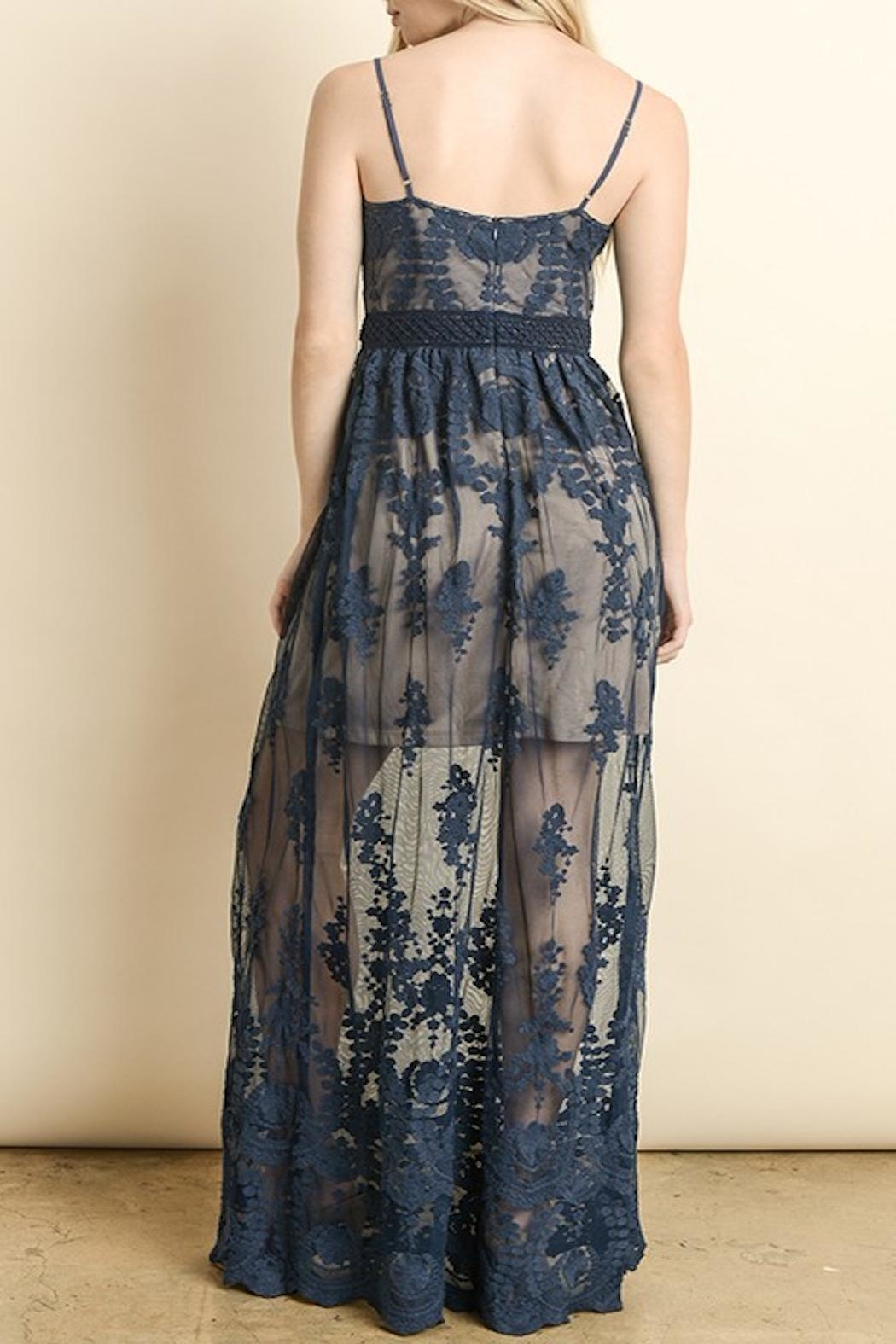 Apricot Lane Floral Lace Maxi - Side Cropped Image