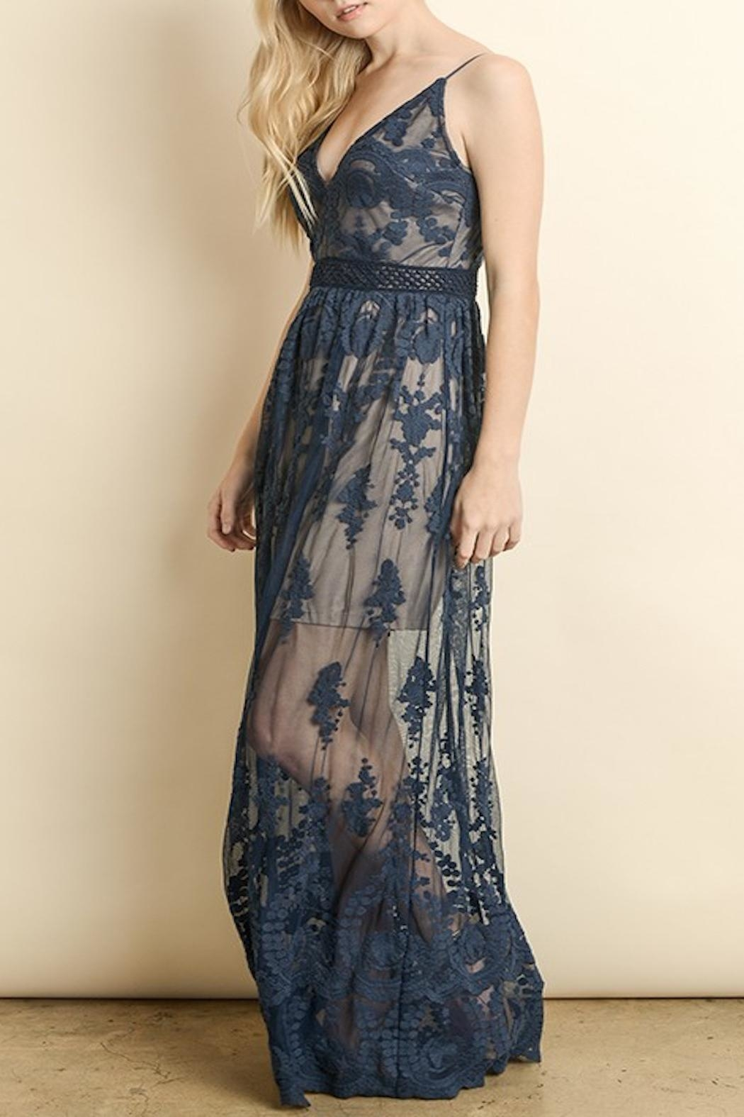 Apricot Lane Floral Lace Maxi - Front Full Image