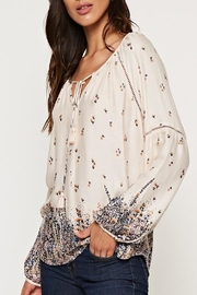 Apricot Lane Floral Peasant Top - Front full body