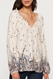 Apricot Lane Floral Peasant Top - Front cropped