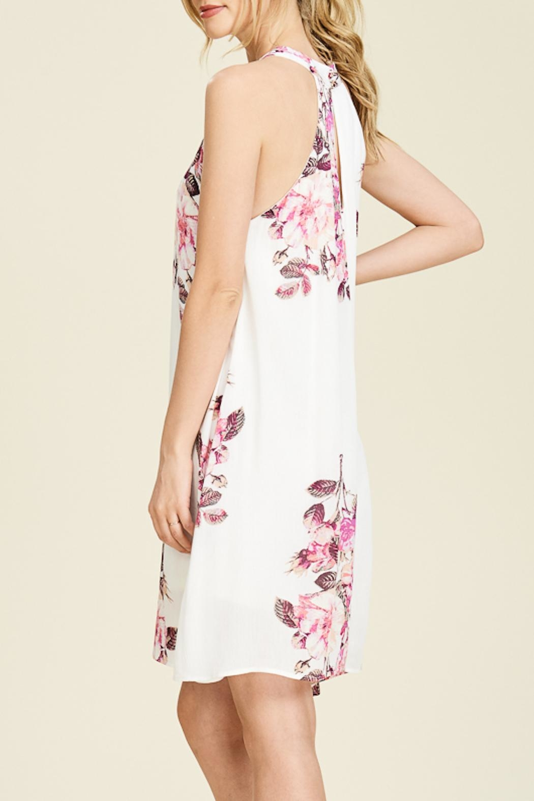 Apricot Lane Floral Print Dress - Front Full Image