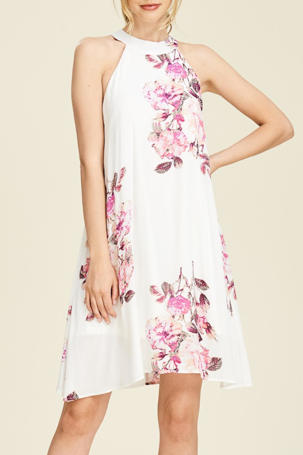 Apricot Lane Floral Print Dress - Front Cropped Image