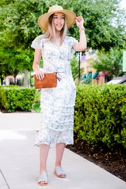 Apricot Lane Floral Ruffle-Sleeve Dress - Product Mini Image