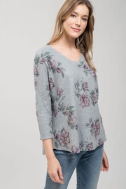 Apricot Lane Floral Waffle Top - Product Mini Image