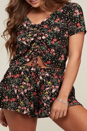 Apricot Lane Flower Print Top - Front cropped