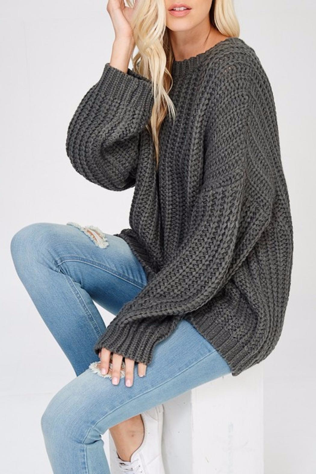 Apricot Lane Glad Tidings Sweater - Front Full Image