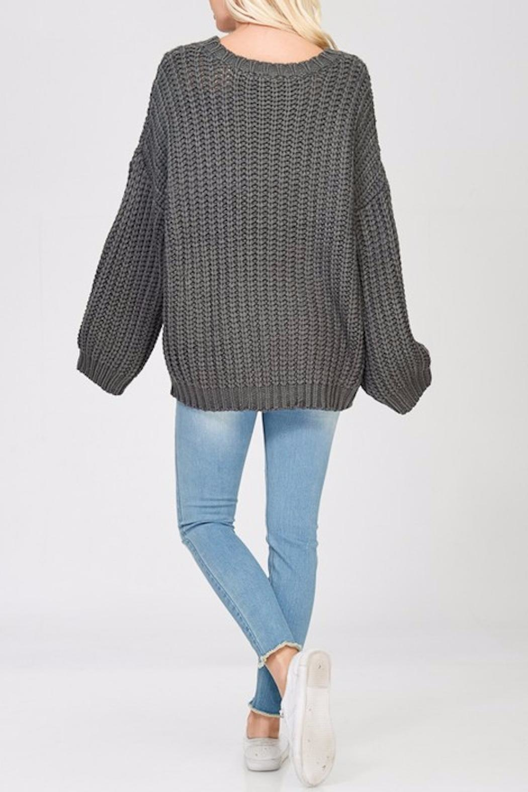 Apricot Lane Glad Tidings Sweater - Side Cropped Image