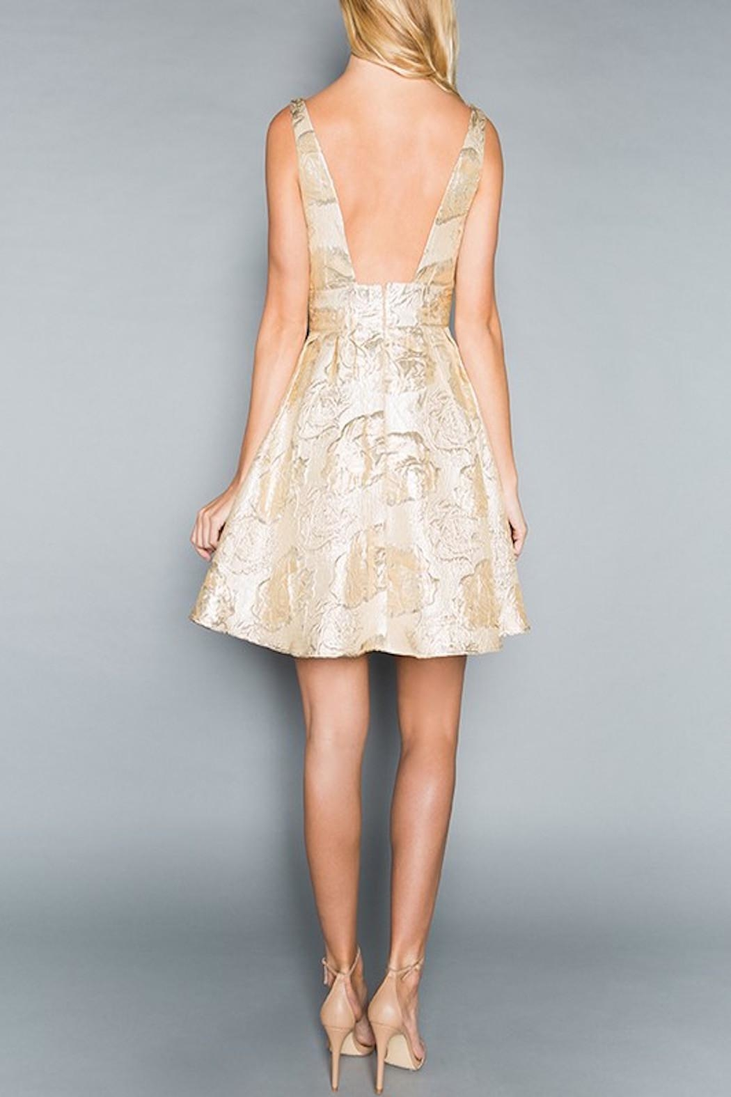 Apricot Lane Go For Gold Dress - Side Cropped Image