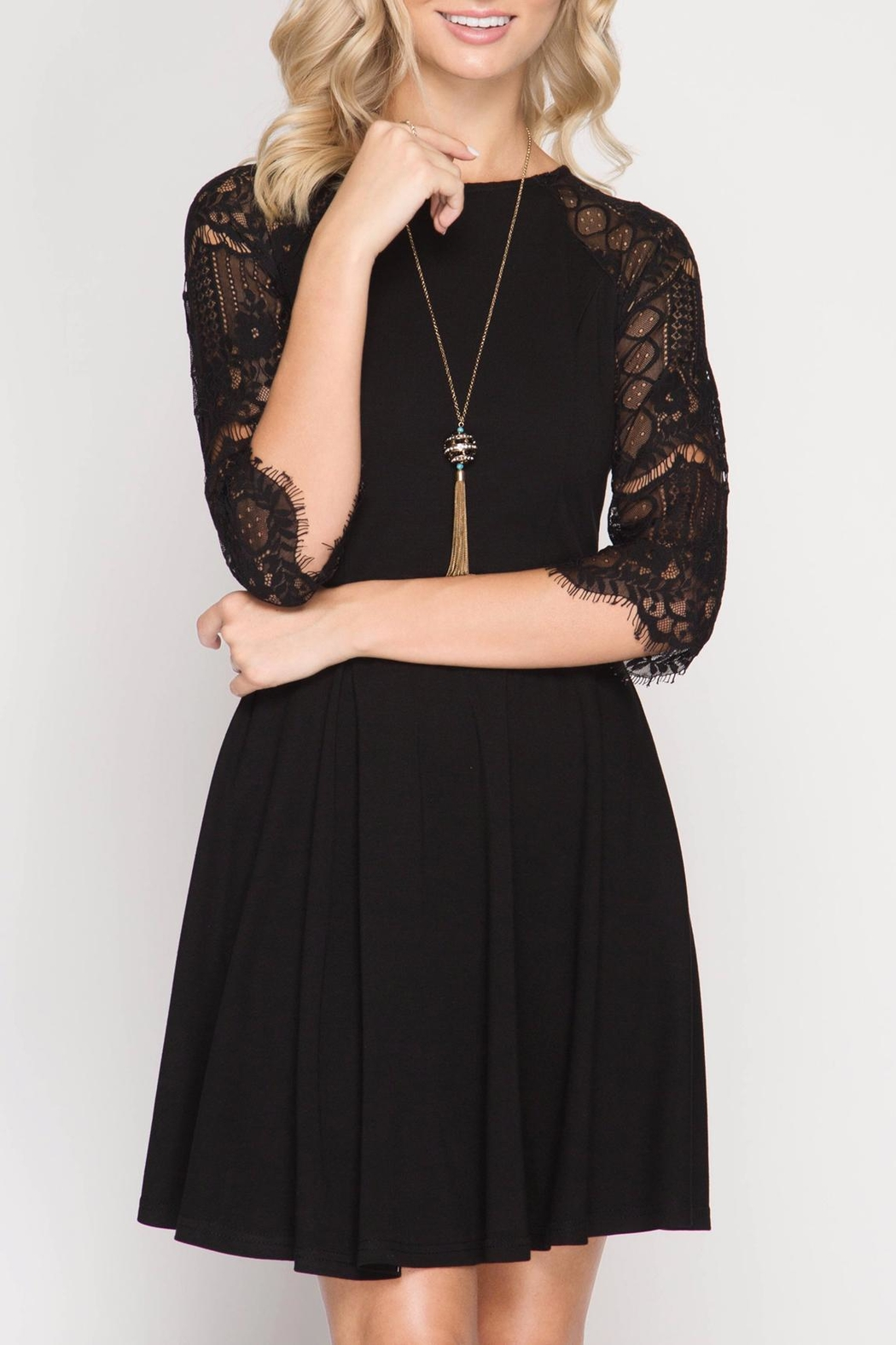 Apricot Lane Grace Lace Dress - Front Cropped Image
