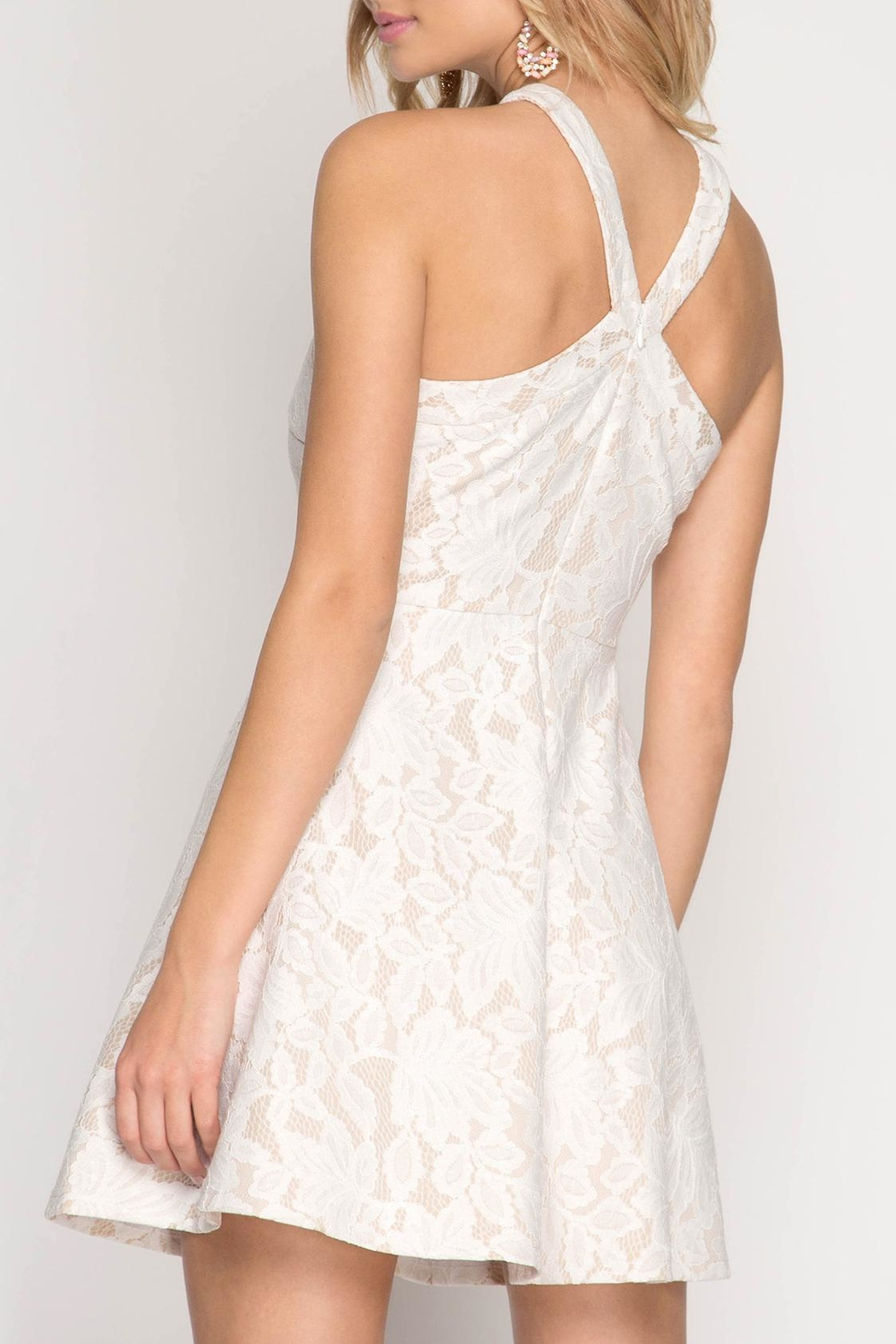 Apricot Lane Halter With Flare-White - Front Full Image