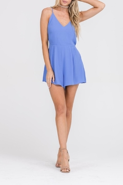 Apricot Lane In & Out Romper-Blue - Product List Image
