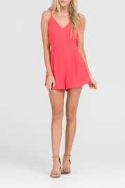 Apricot Lane In & Out Romper-Red - Product Mini Image