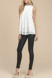 Apricot Lane Ivory Lace Tank - Front full body