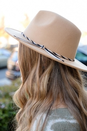 Apricot Lane Jerrie Tan Hat - Front full body