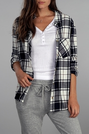 Apricot Lane Kylie Flannel Top - Product Mini Image
