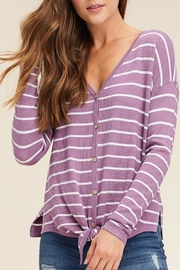 Apricot Lane Lavender Striped Top - Product Mini Image