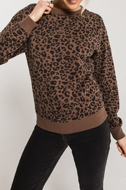 Apricot Lane Leopard Pullover-Frenchroast - Product Mini Image