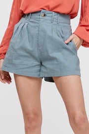 Apricot Lane Linen Shorts - Sage - Product Mini Image