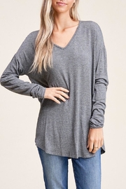 Apricot Lane Loose Pullover-Charcoal - Product Mini Image