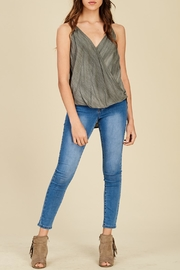 Apricot Lane Love Struck - Charcoal - Front cropped