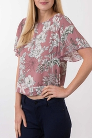 Apricot Lane Mauve Crop Top - Front full body