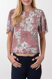 Apricot Lane Mauve Crop Top - Product Mini Image