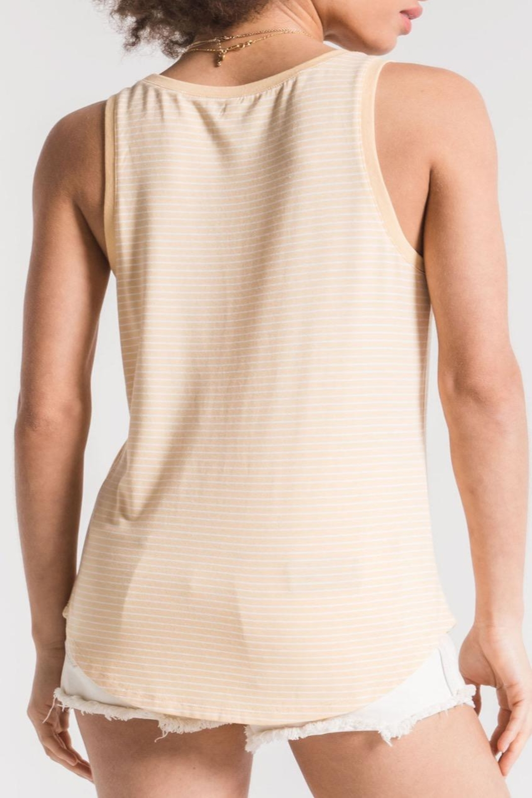 Apricot Lane Micro Stripe Tank - Side Cropped Image