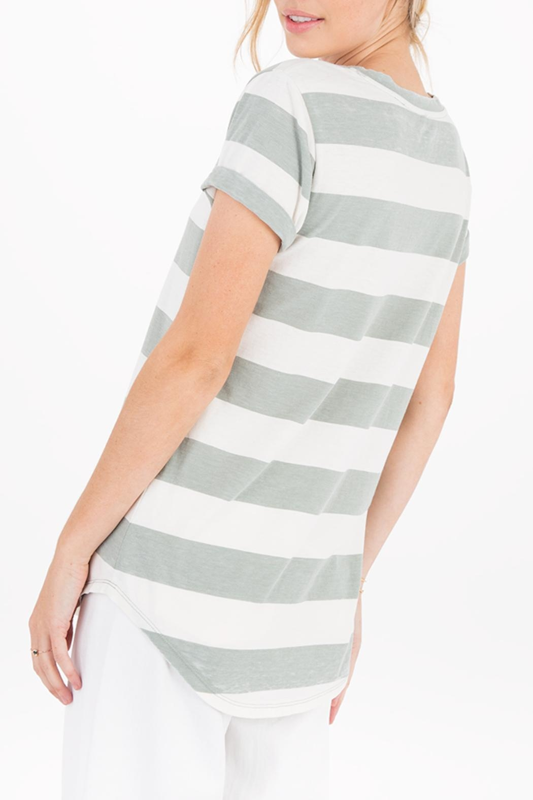 Apricot Lane Naples Striped Tee - Side Cropped Image