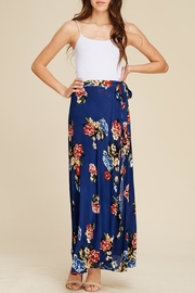 Apricot Lane Navy Floral Maxi-Skirt - Product Mini Image