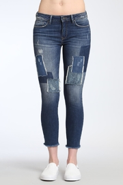 Apricot Lane Patched Up Denim Jeans - Product Mini Image