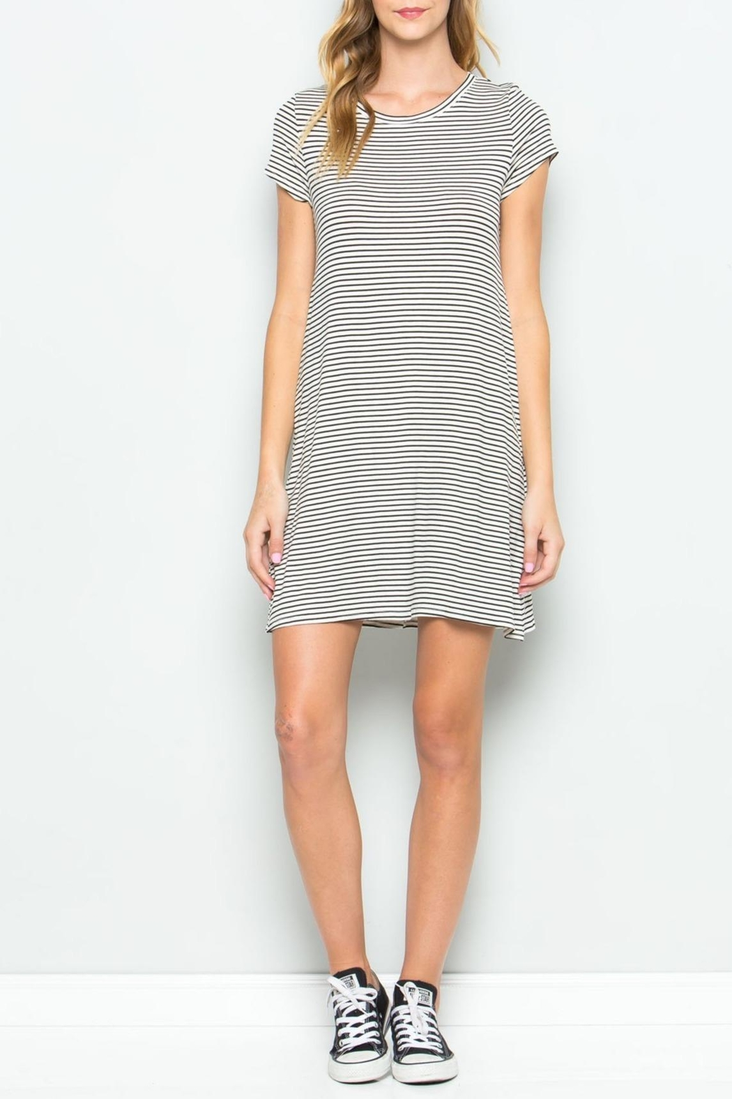Apricot Lane Pin-Stripe Tee Dress - Main Image