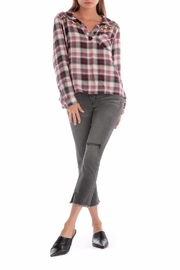 Apricot Lane Plaid Embroidered Top - Product Mini Image