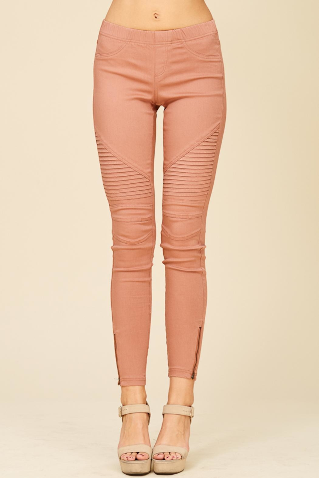 Apricot Lane Pleated Jegging - Front Cropped Image